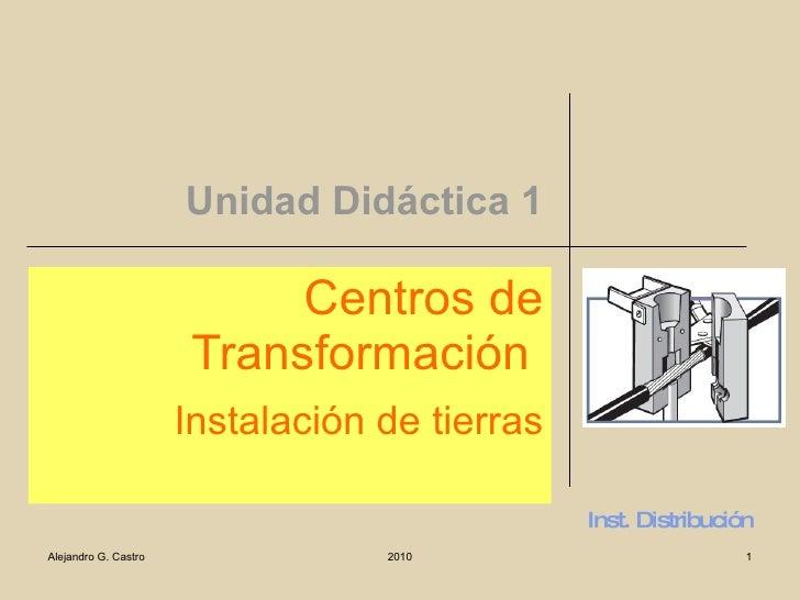 Unidad Didáctica 1 Centros de Transformación  Instalación de tierras