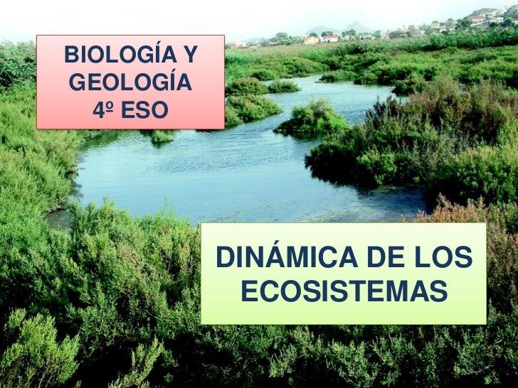 BIOLOGÍA YGEOLOGÍA  4º ESO   4º ESO. BIOLOGÍA Y GEOLOGÍA             DINÁMICA DE LOS               ECOSISTEMAS