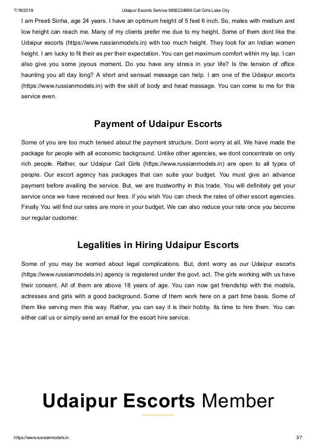 Udaipur escorts service Udaipur call girls lake city Slide 3
