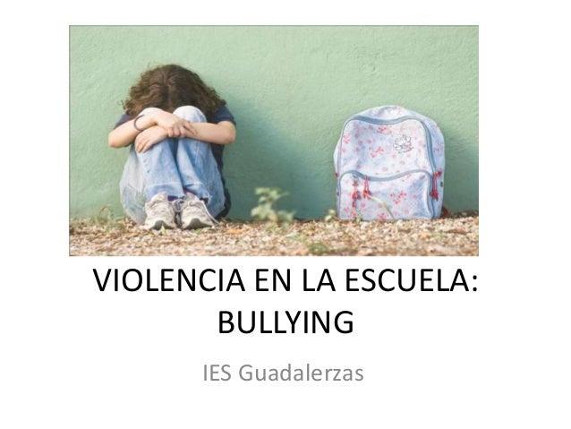 VIOLENCIA EN LA ESCUELA: BULLYING IES Guadalerzas