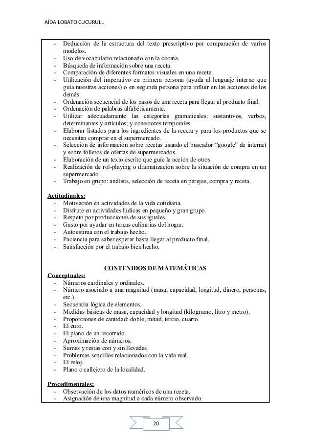 Recetas Por 5 Euros C Cocina   Ud Receta De Cocina 3º Primaria Alumnado Tdah