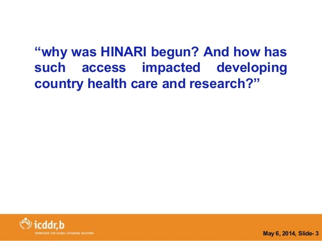 APLIC 2014 - HINARI experience in Bangladesh Slide 3