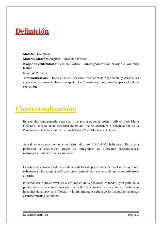 Ud educacion artistica for Veta artistica definicion