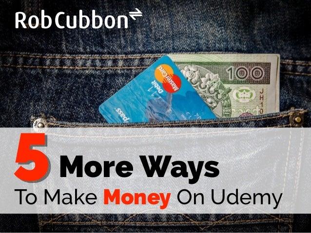 More Ways To Make Money On Udemy 5