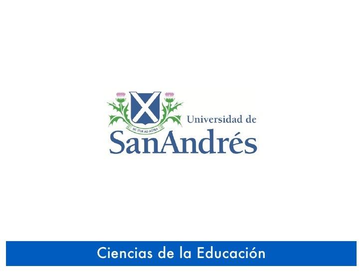 UDESA 2010 - Educación y Tecnología - Ciencias de la Educación - Taller 07