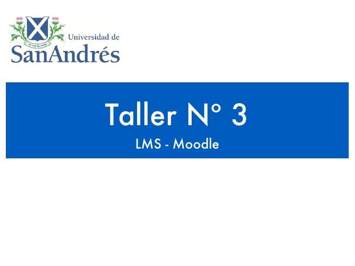 Taller Nº 3   LMS - Moodle