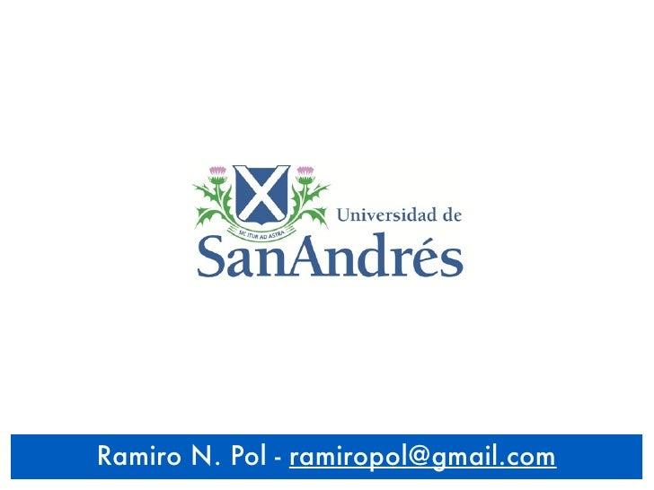 Ramiro N. Pol - ramiropol@gmail.com