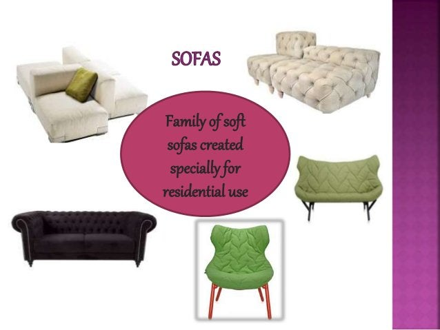 Family of soft sofas created specially for residential use