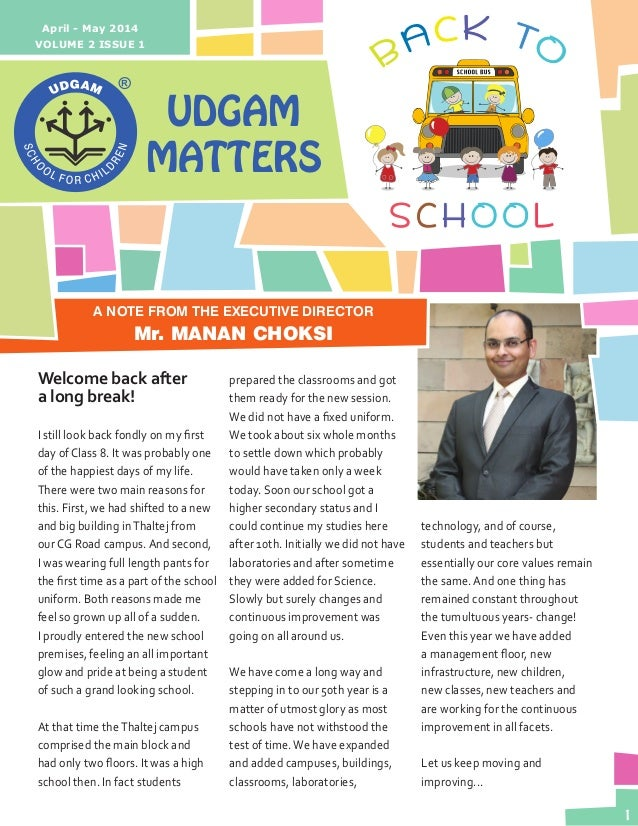Udgam Matters - April-May 2014