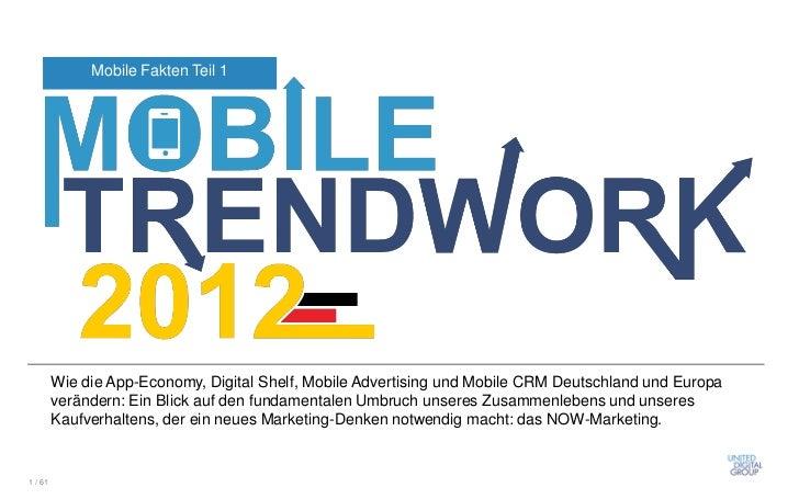Mobile Fakten Teil 1         Wie die App-Economy, Digital Shelf, Mobile Advertising und Mobile CRM Deutschland und Europa ...