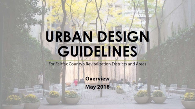 Fairfax County Urban Design Guidelines Overview