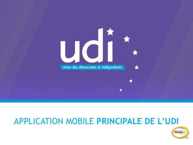 APPLICATION MOBILE PRINCIPALE DE L'UDI