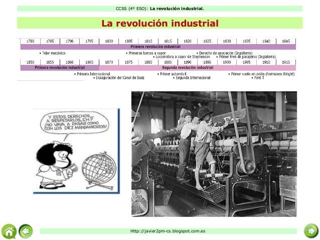 CCSS (4º ESO): La revolución industrial. Http://javier2pm-cs.blogspot.com.es http://javier2pm-cs.blogspot.com.es La revolu...