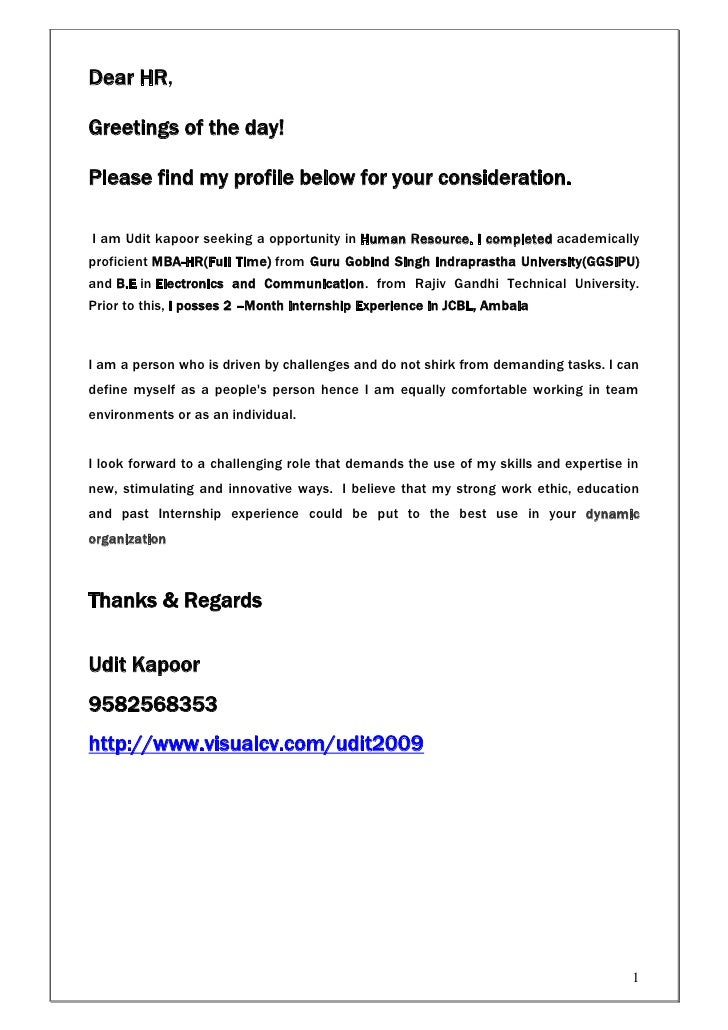Dear HR,Greetings of the day!Please find my profile below for your consideration.I am Udit kapoor seeking a opportunity in...