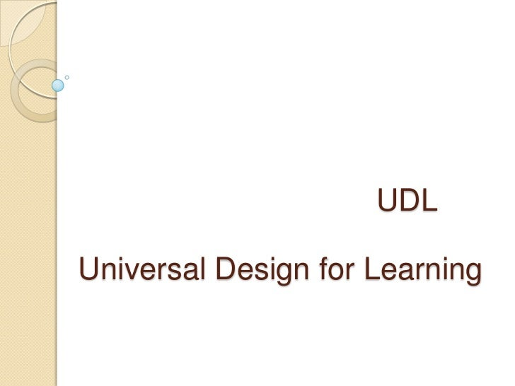 UDLUniversal Design for Learning