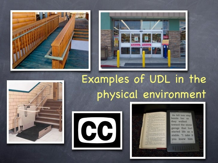 Universal Design Classroom Examples : Universal design for learning
