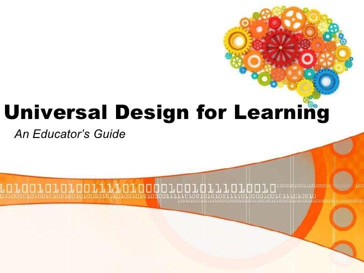 "Universal Design for LearningAn Educator""s Guide"