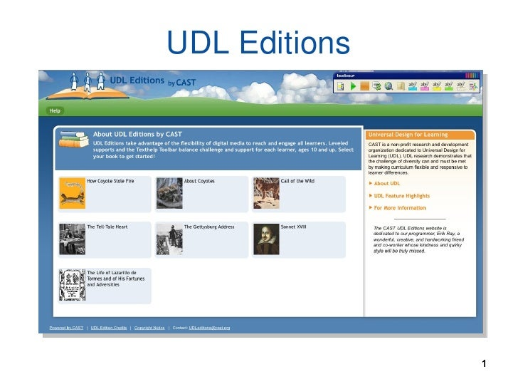 UDL Editions