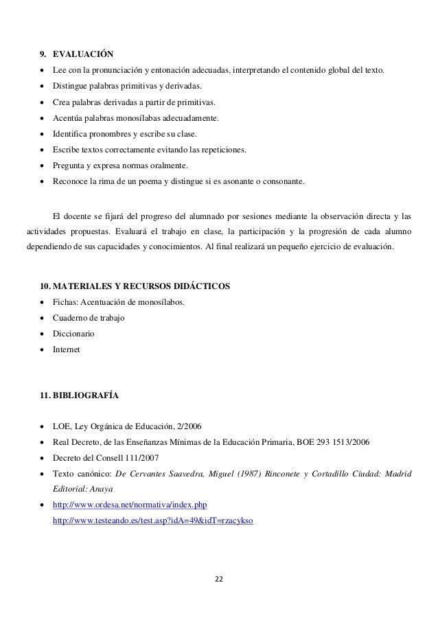 UNIDAD DIDÁCTICA DE LENGUA Y LITERATURA CASTELLANA DE 6º