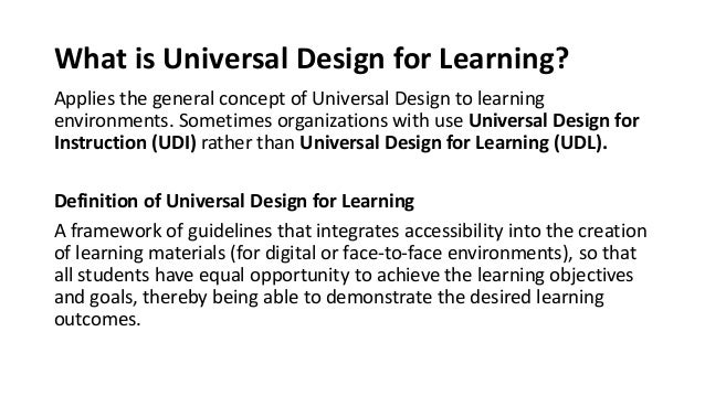 Universal Design For Learning And Making Digital Content Accessible