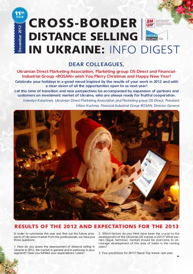 11th ISSUE   December 2012                   CROSS-BORDER                   DISTANCE SELLING                   IN UKRAINE:...