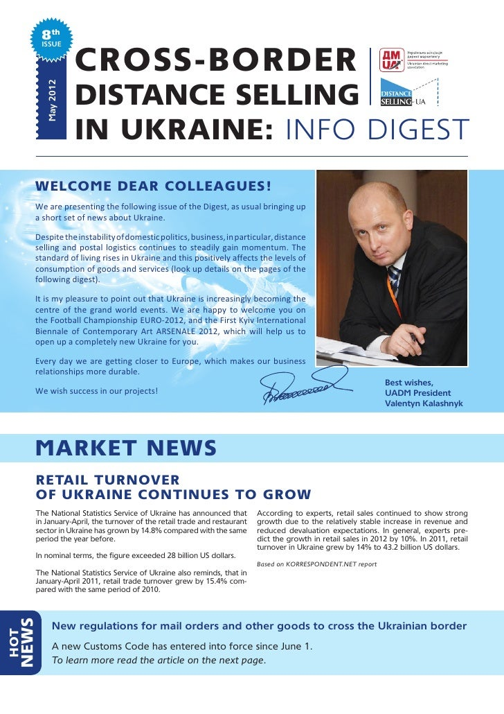 8th         ISSUE                     CROSS-BORDER                     DISTANCE SELLING          May 2012                 ...