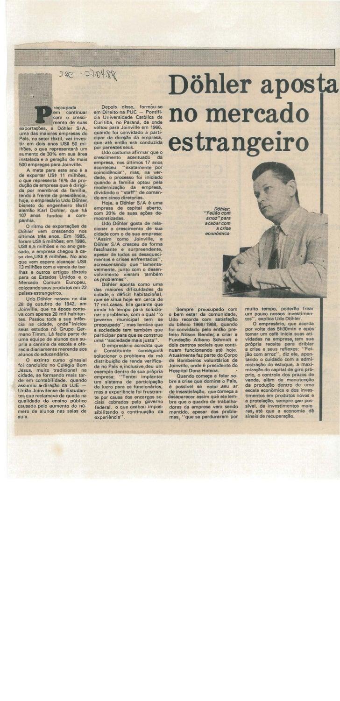 Döhler aposta no mercado estrangeiro