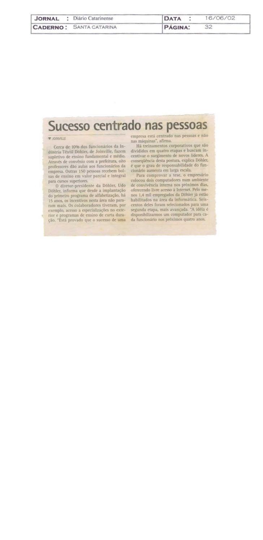 Udo investe na qualificação de funcionarios 2001