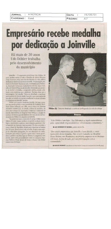 Udo recebe medalha
