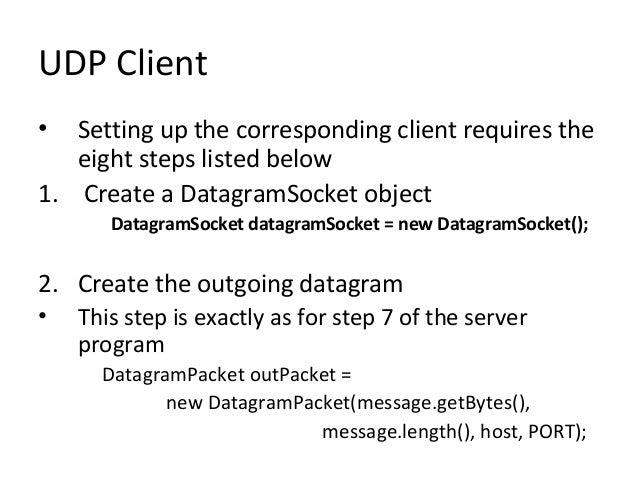 Socket programming socket programming overview java socket.