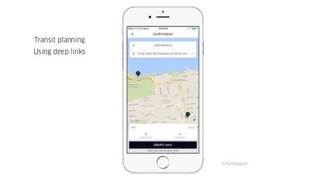 Citymapper Transit planning Using deep links