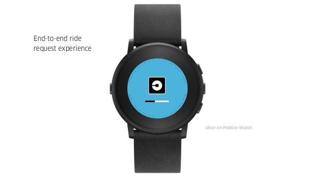 Uber on Pebble Watch End-to-end ride request experience