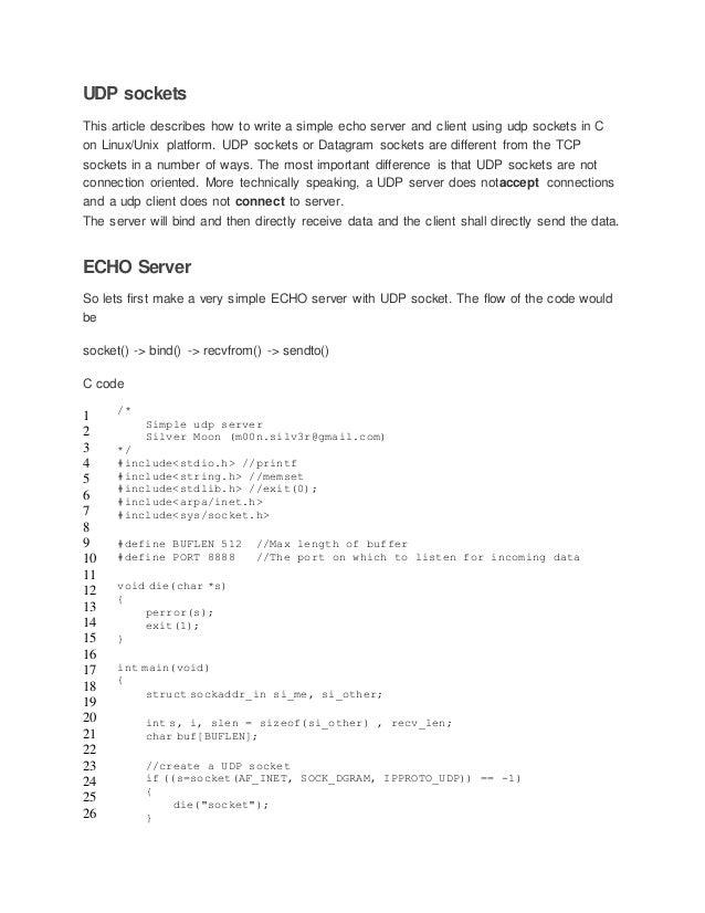 Udp socket programming(Florian)