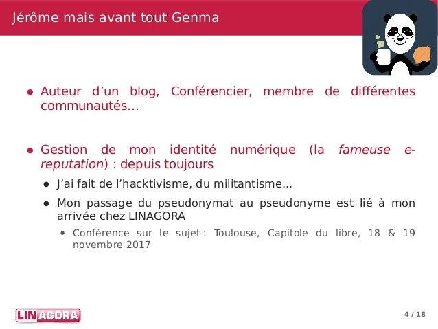 4 / 18 Jérôme mais avant tout GenmaJérôme mais avant tout Genma ● Auteur d'un blog, Conférencier, membre de différentes co...