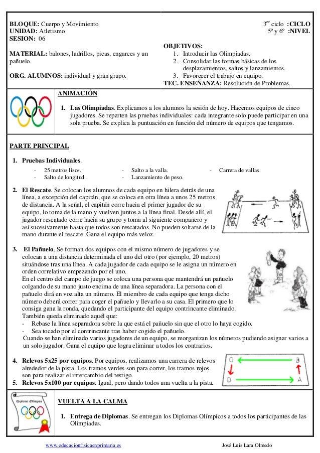 3er ciclo :CICLO 5º y 6º :NIVEL  BLOQUE: Cuerpo y Movimiento UNIDAD: Atletismo SESION: 06 MATERIAL: balones, ladrillos, pi...