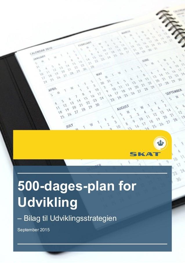 33 500-dages-plan for Udvikling – Bilag til Udviklingsstrategien September 2015