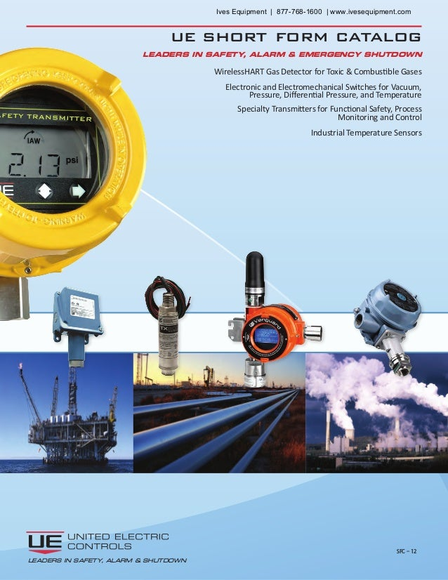 ue short form catalog WirelessHART Gas Detector for Toxic & Combustible Gases Electronic and Electromechanical Switches fo...