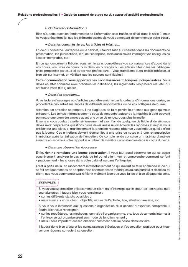 Ue13 - Rapport de stage cabinet d expertise comptable ...