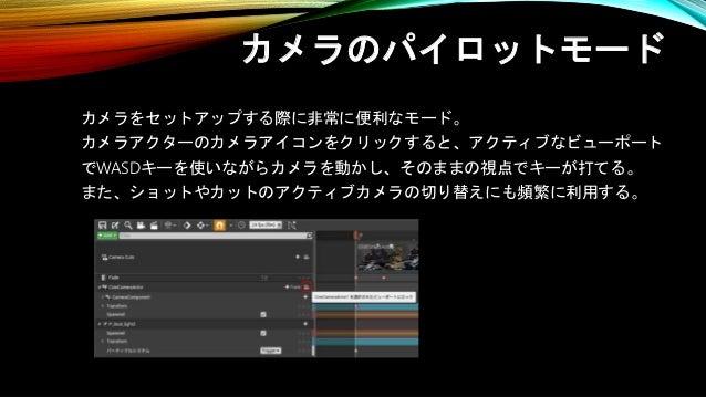 レコーダーによる記録 シーケンスレコーダーを使うとゲームプレイを簡単に レベルシーケンスデータとして記録が可能。 これにより、難しい動きでもプレイ次第で簡単に動きを作ることも可能。