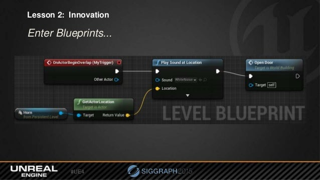 Ue4 siggraph nick whiting ue4 lesson 2 innovation enter blueprints malvernweather Image collections