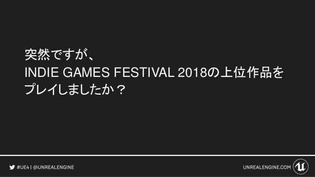 突然ですが、 INDIE GAMES FESTIVAL 2018の上位作品を プレイしましたか?