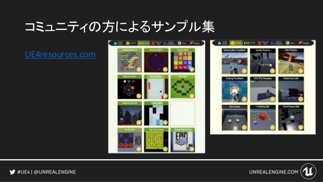 アンリアルマッチ3 モバイルゲーム開発用サンプル • モバイル特有の実装方法の学習に • 実際にストアで配信されている コンテンツなので、 リリースするための実装の勉強にも! ストアページヘのリンク