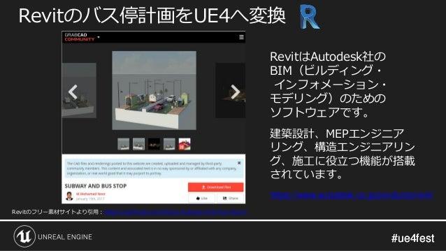 #ue4fest#ue4fest Revitのバス停計画をUE4へ変換 Revitのフリー素材サイトより引用:https://grabcad.com/library/subway-and-bus-stop-1 https://www.autod...