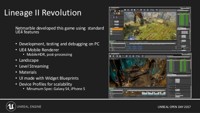 Unreal Open Day 2017 UE4 for Mobile: The Future of High