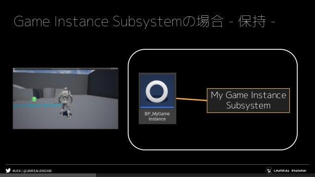 #UE4 | @UNREALENGINE Game Instance Subsystemの場合 - 保持 - My Game Instance Subsystem