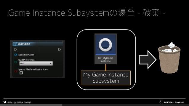 #UE4 | @UNREALENGINE Game Instance Subsystemの場合 - 破棄 - My Game Instance Subsystem