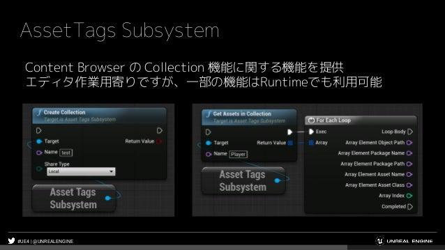 #UE4 | @UNREALENGINE AssetTags Subsystem Content Browser の Collection 機能に関する機能を提供 エディタ作業用寄りですが、一部の機能はRuntimeでも利用可能