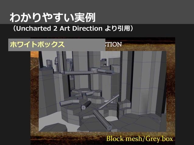 わかりやすい実例 (Uncharted 2 Art Direction より引用) ホワイトボックス