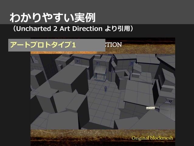 わかりやすい実例 (Uncharted 2 Art Direction より引用) アートプロトタイプ1