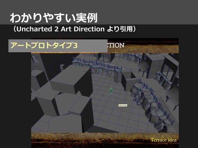 わかりやすい実例 (Uncharted 2 Art Direction より引用) アートプロトタイプ3